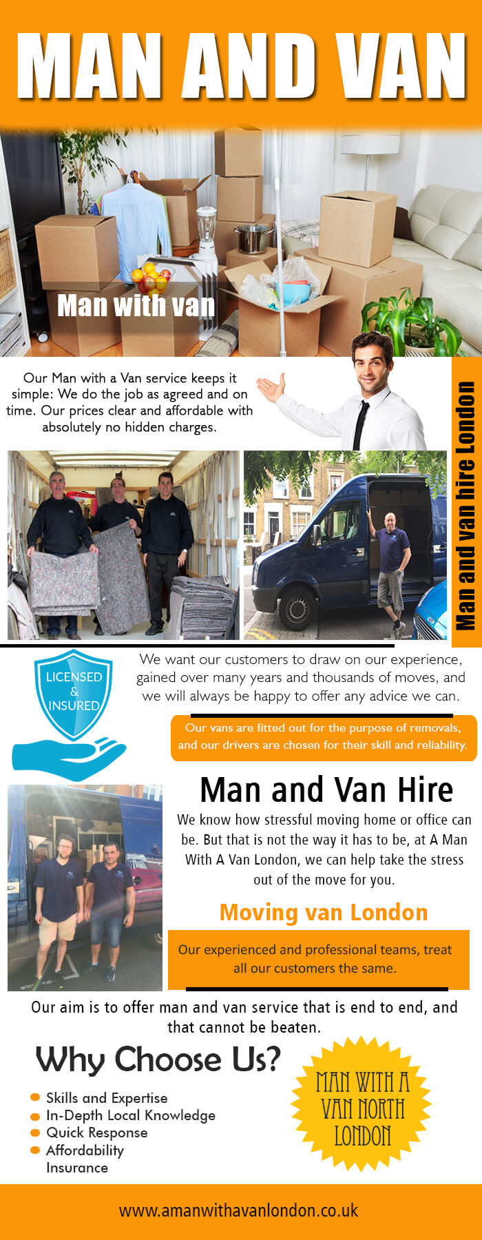 Moving Van Hire With Driver